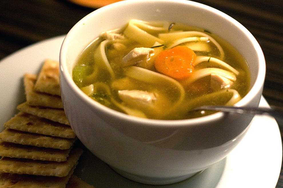 Malaysian Chicken Noodle Soup with Asian Greens and Chili-Soy Sauce ...