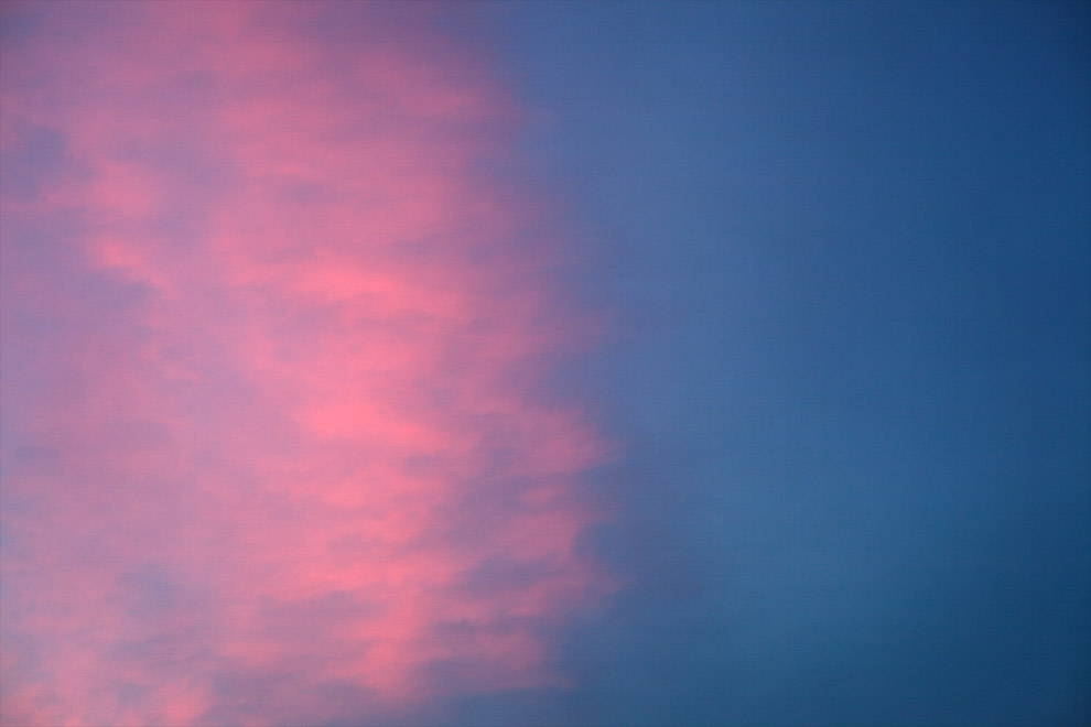 pink blue sky