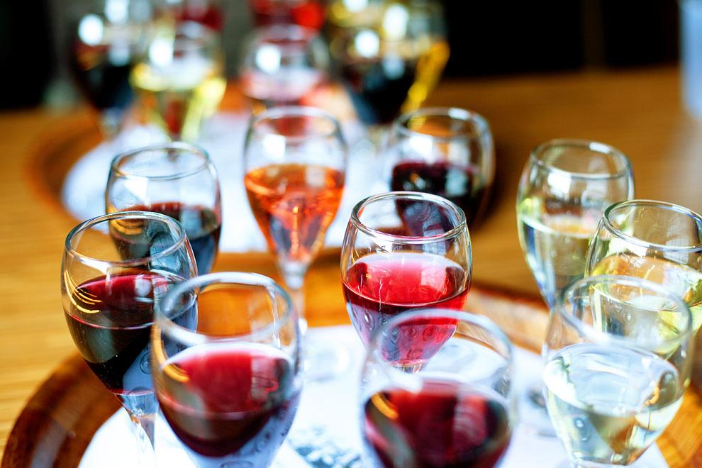 wine tasting tray