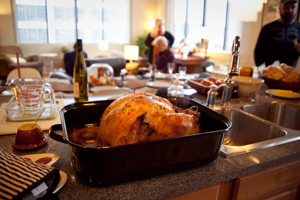 the turkey is done