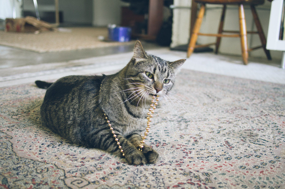 Edie with beads