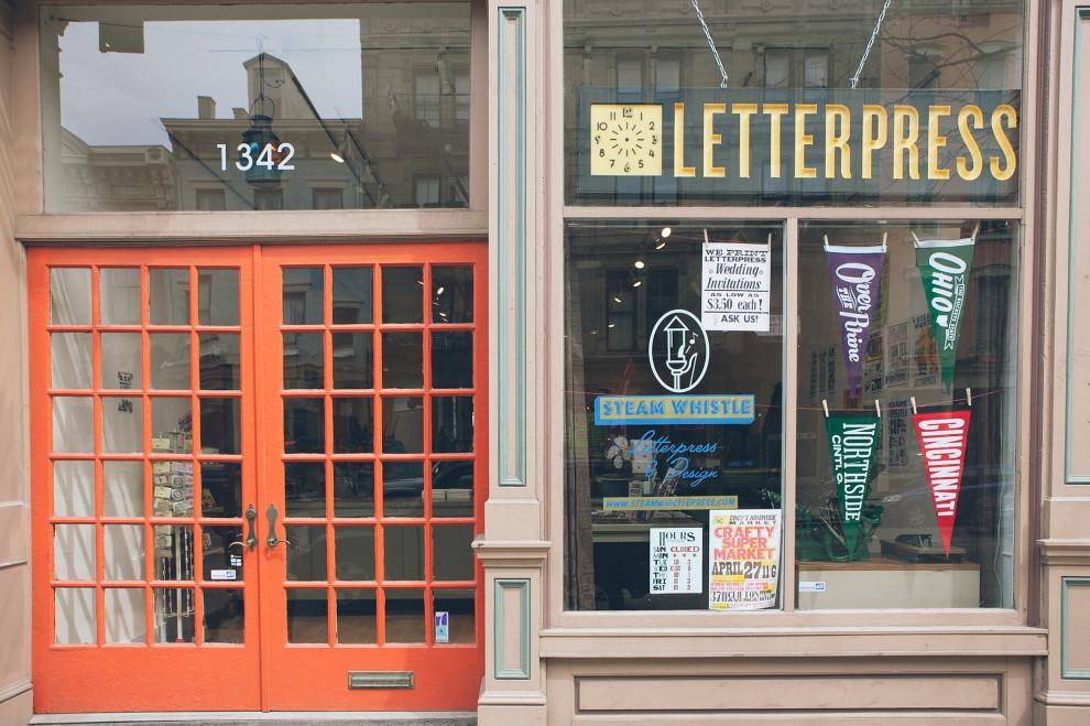 Steam Whistle Letterpress