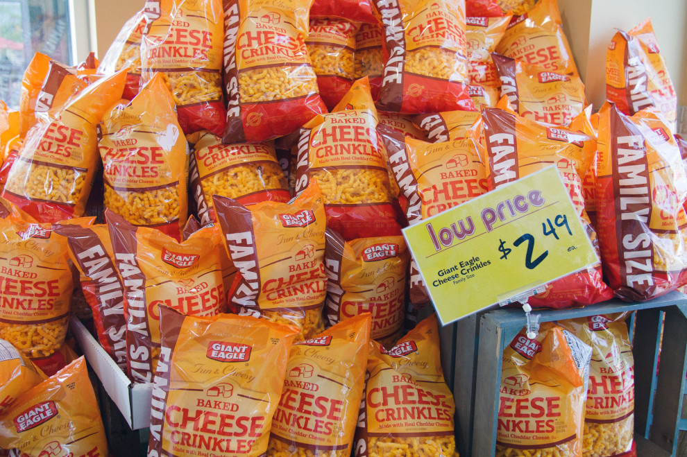 Cheese crinkles