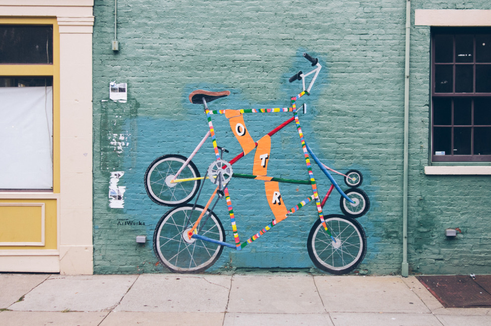 OTR Bike Mural by Michael Stillion