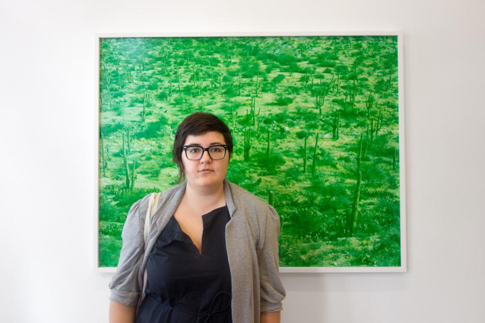 Grace and a David Benjamin Sherry print