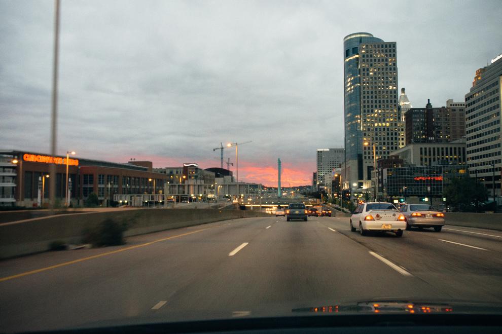 Sunset, Fort Washington Way