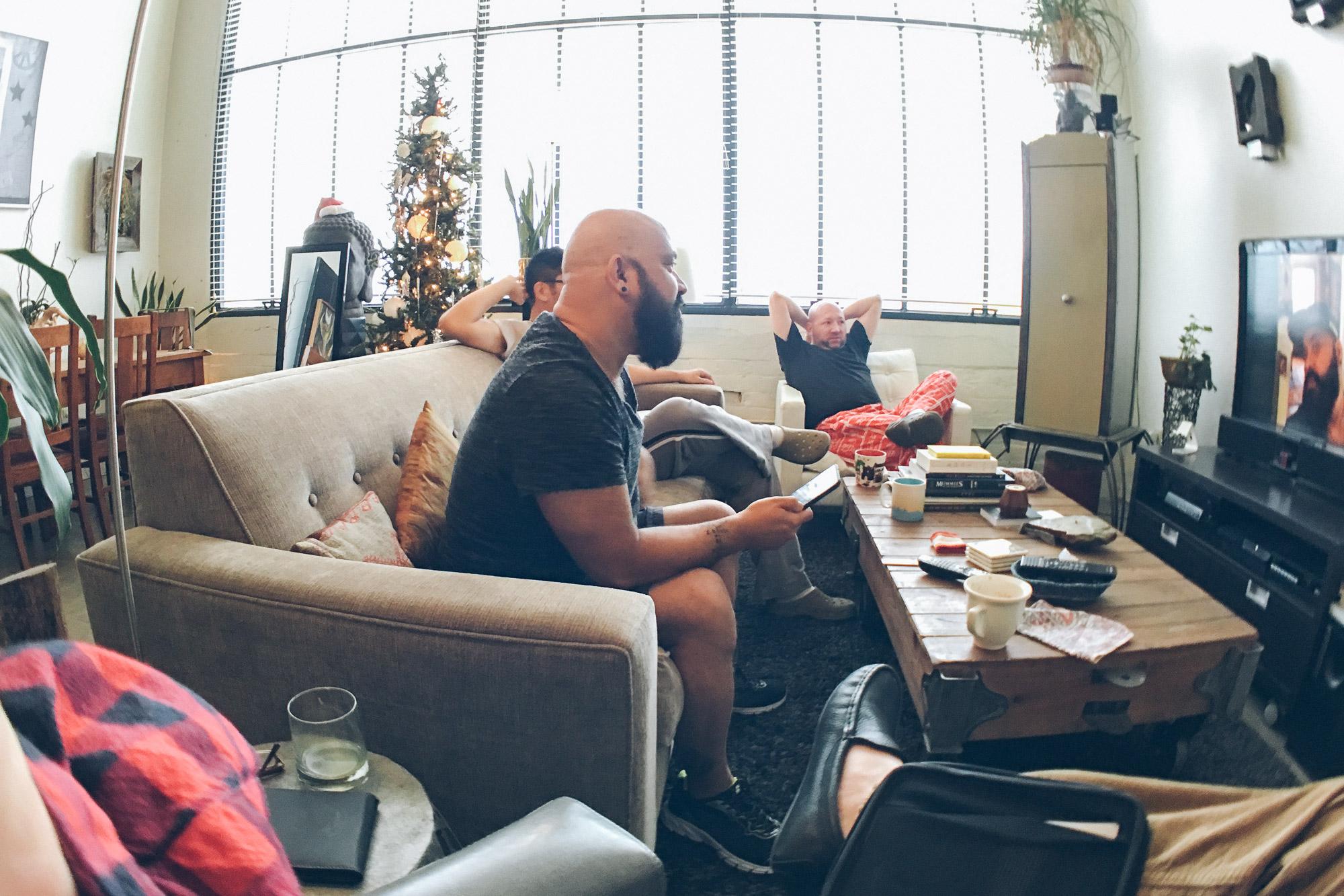 Joe at home