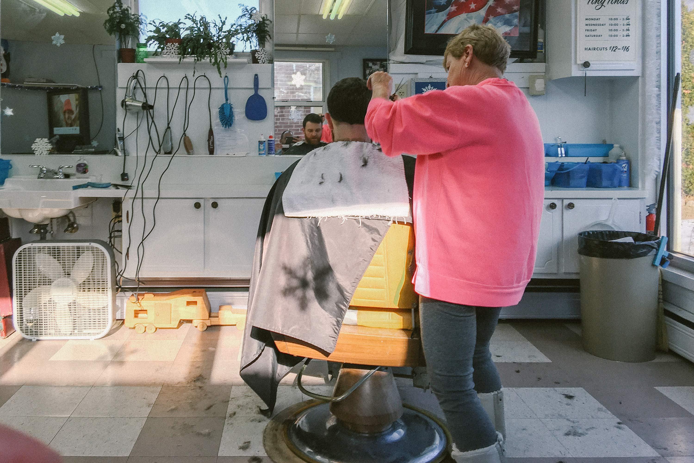 Casey gets his haircut at Tiny Tina's