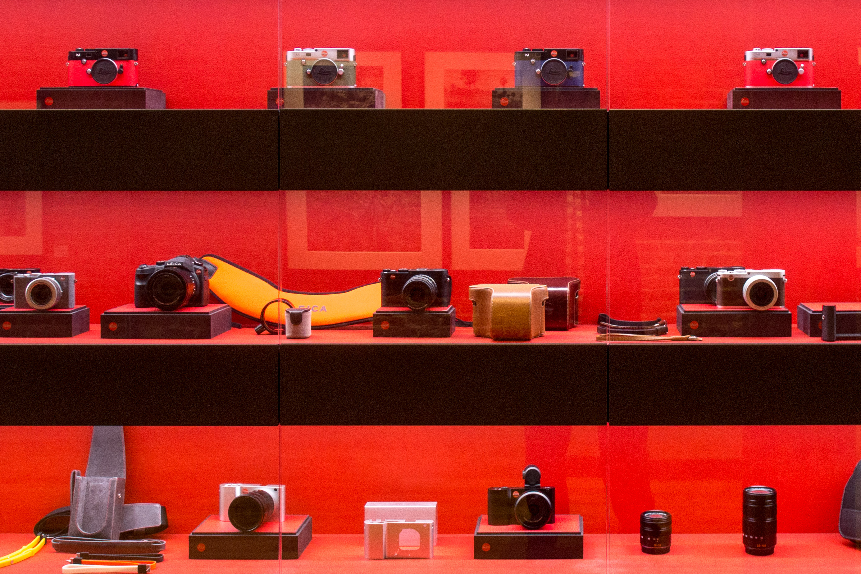 Inside the Leica store
