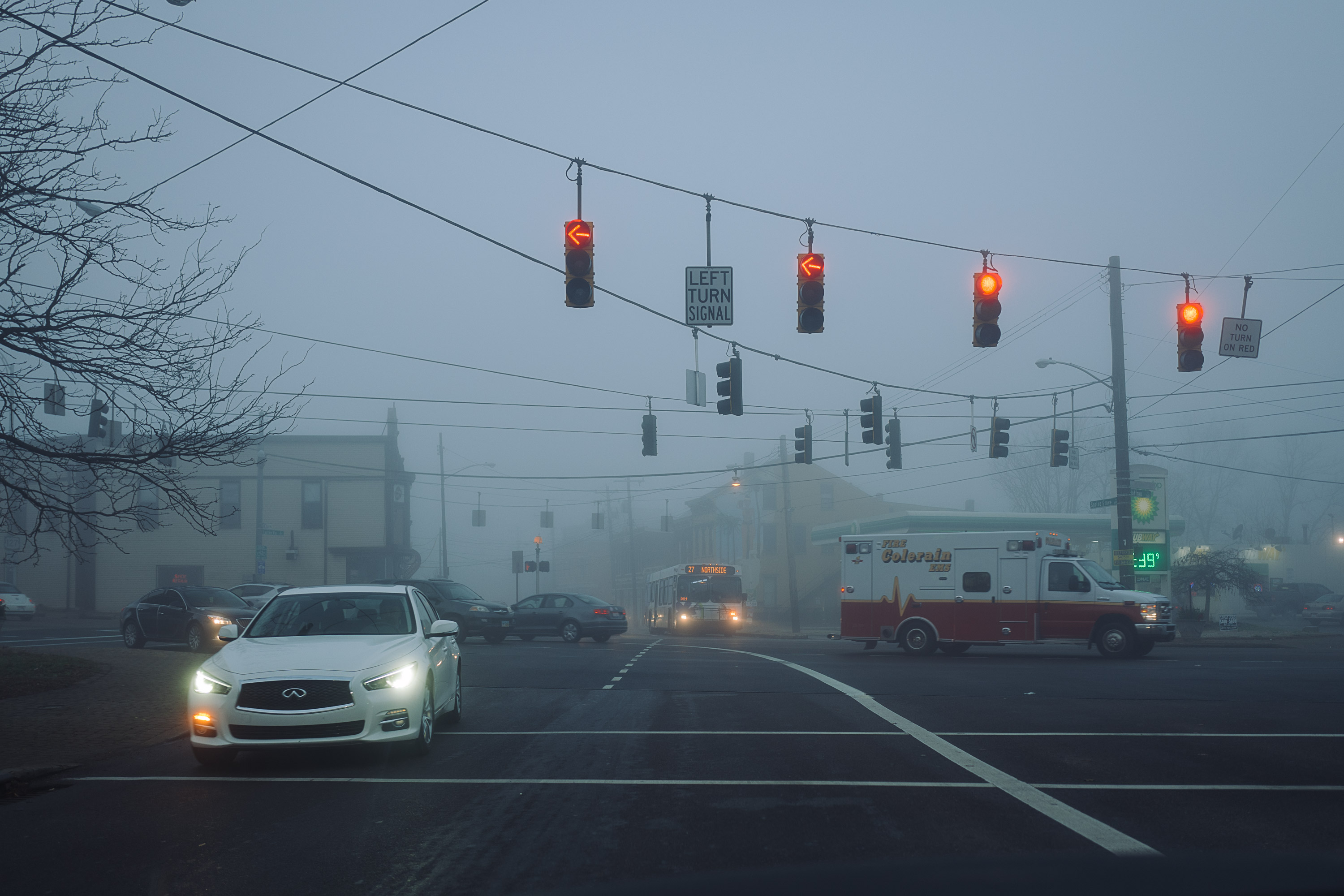 Fog in Northside Cincinnati
