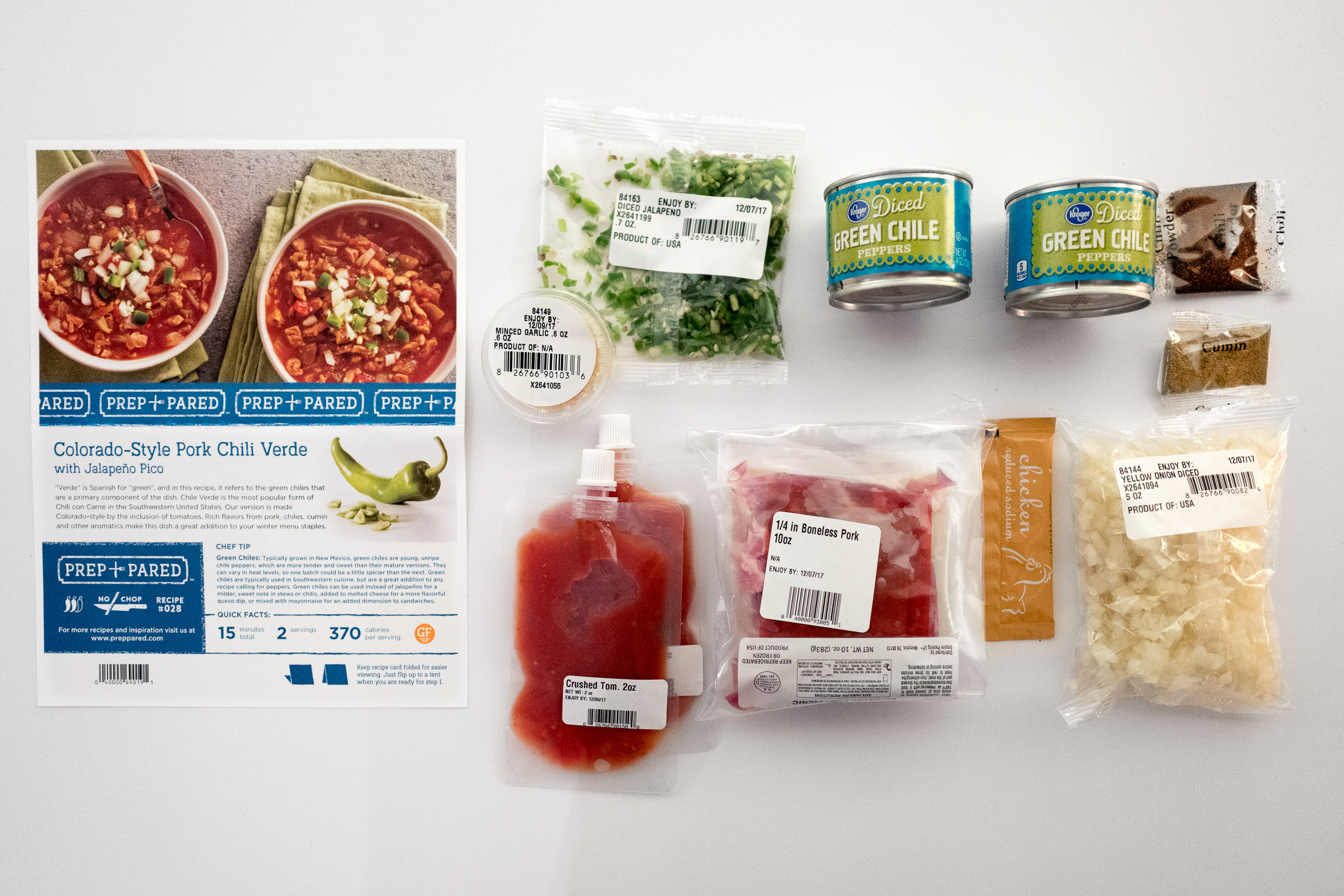 Kroger Colorado-Style Pork Chili Meal-kit