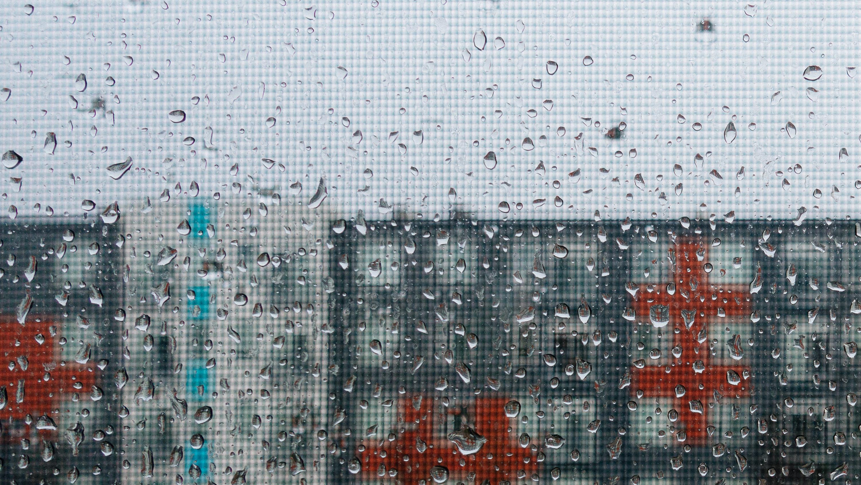 Rain through window