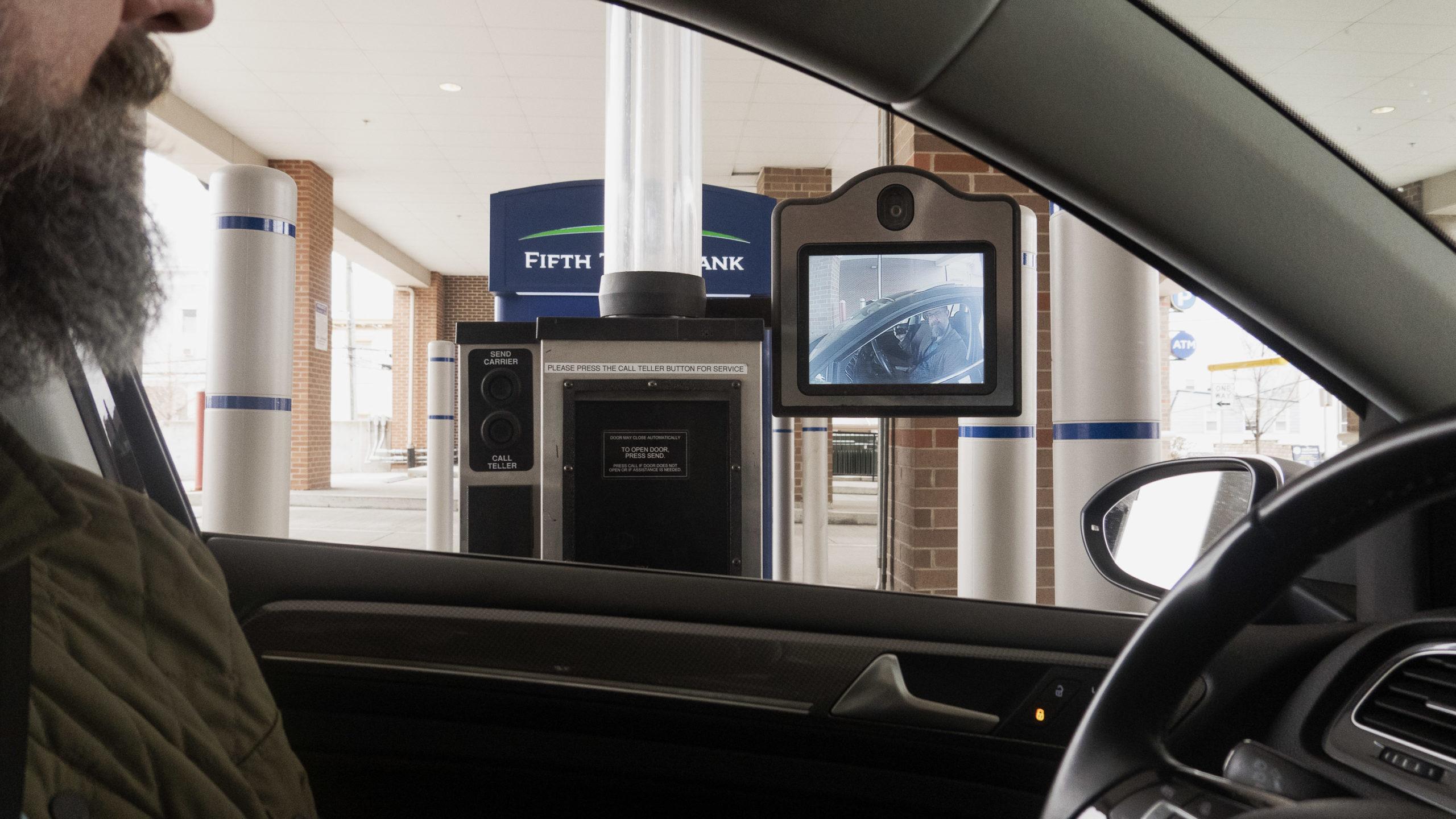Remote teller at a bank