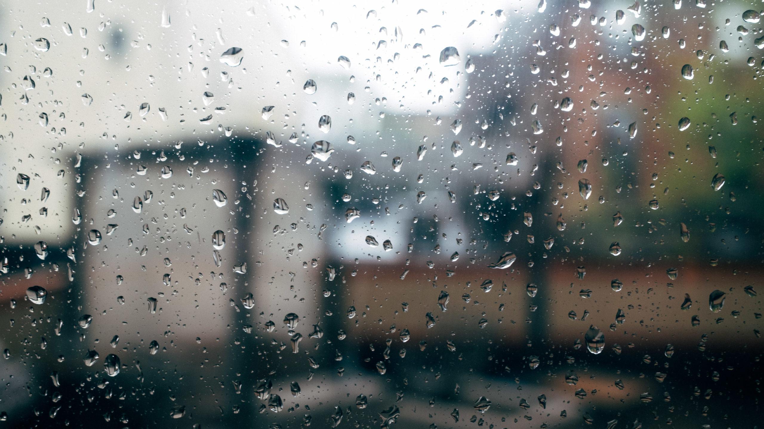 rain on pane of glass