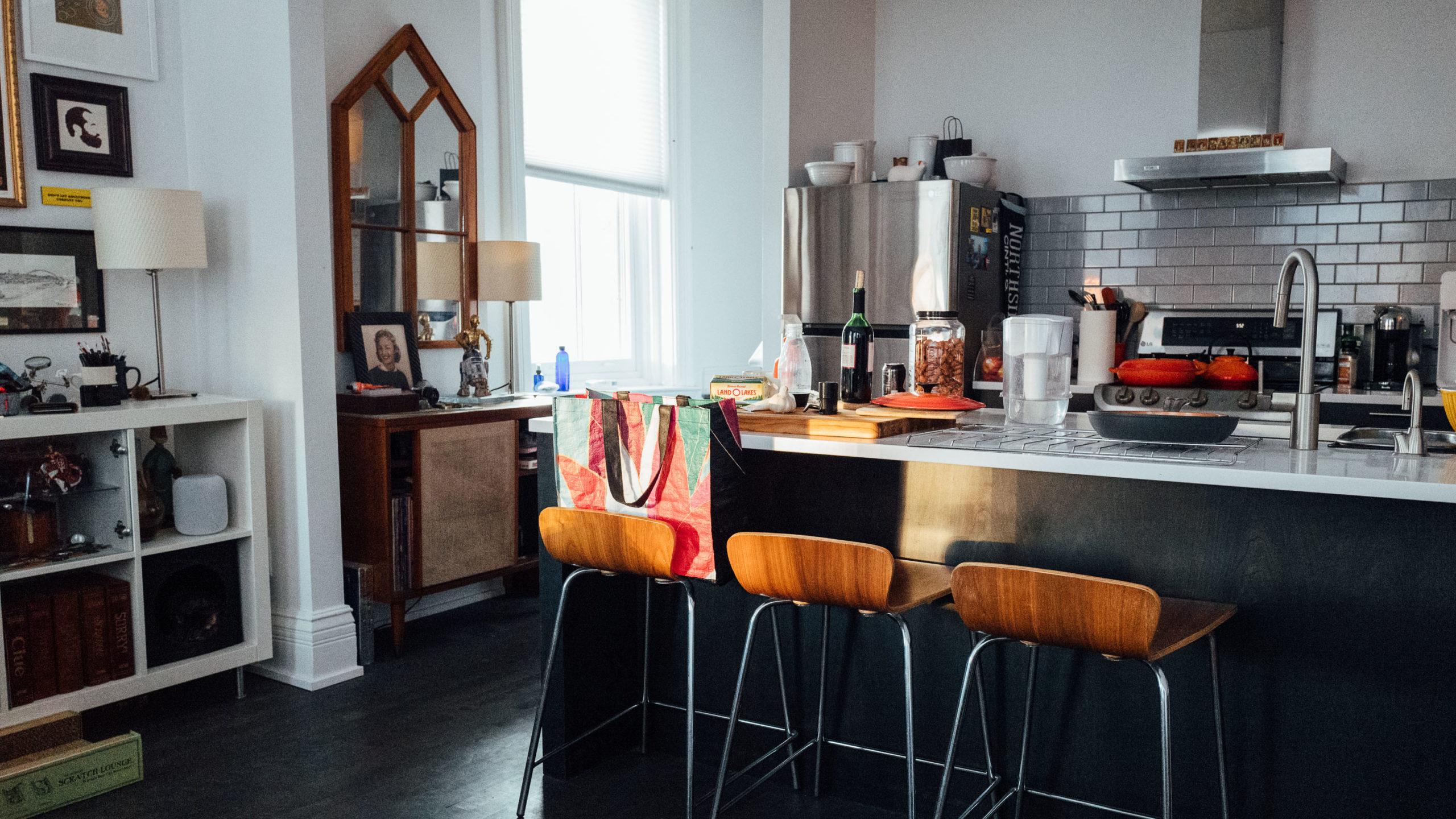 Kitchen in light