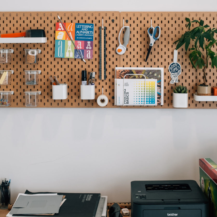 IKEA wall organization system