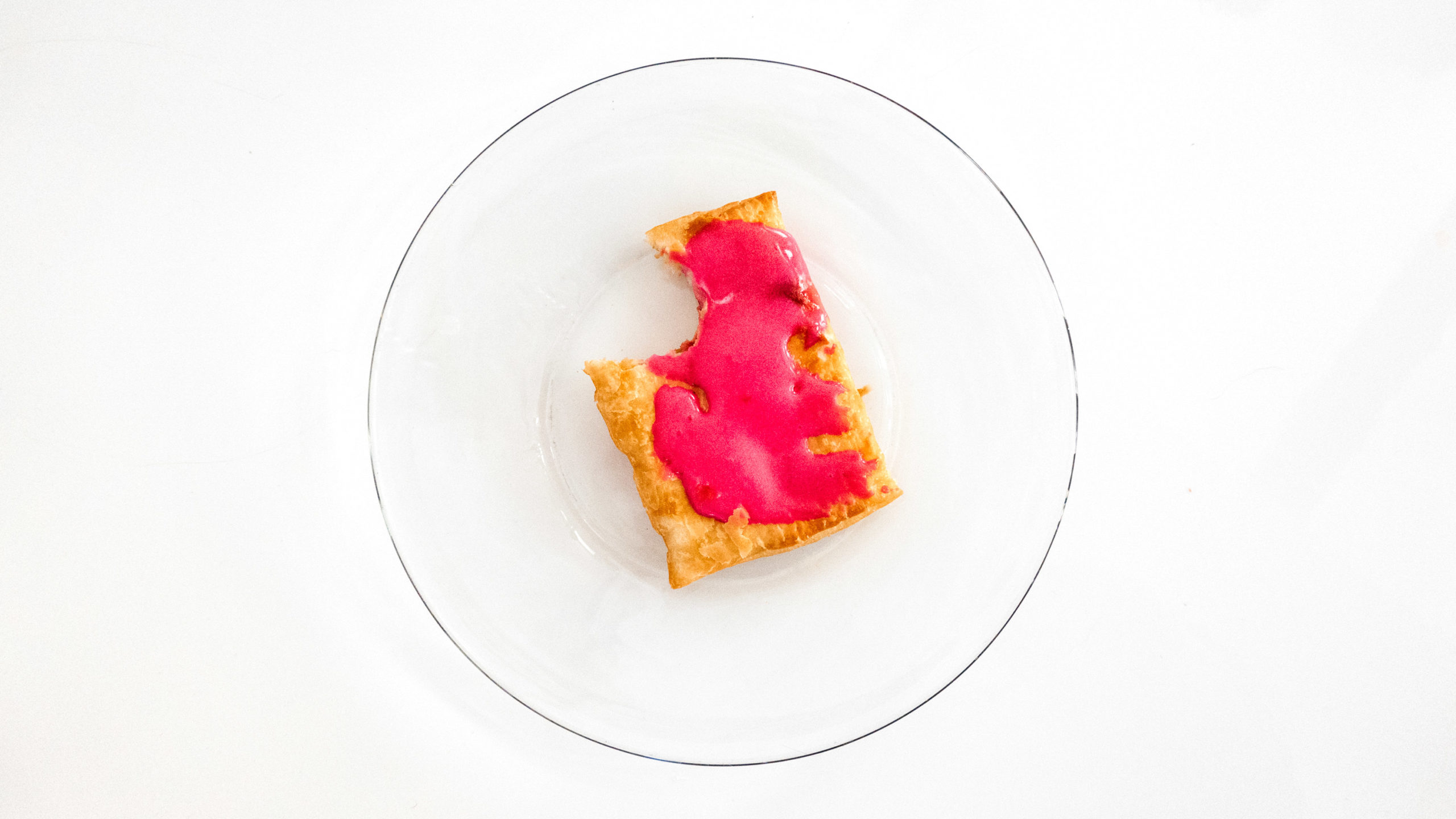 Pillsbury Toaster Strudel with pink icing