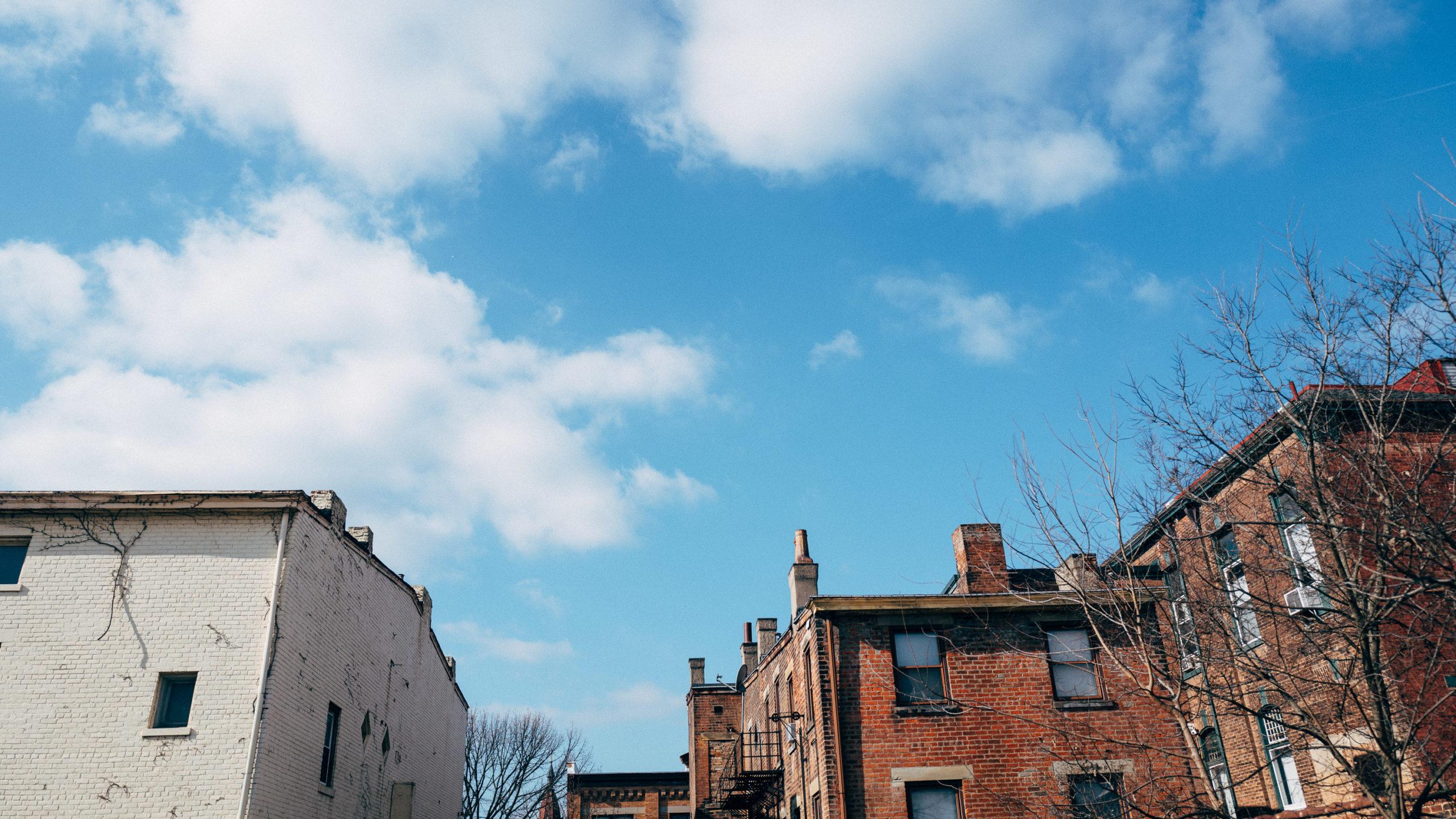 Blue skies in Northside