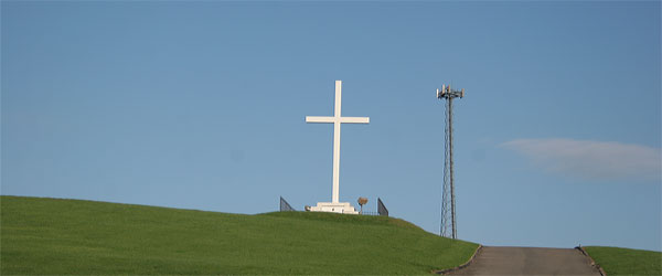 cross, cell tower
