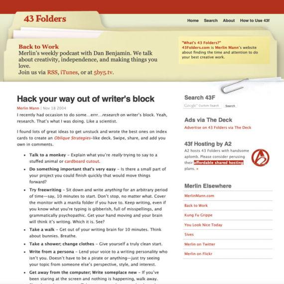 43 Folders website