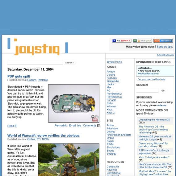 Joystiq weblog