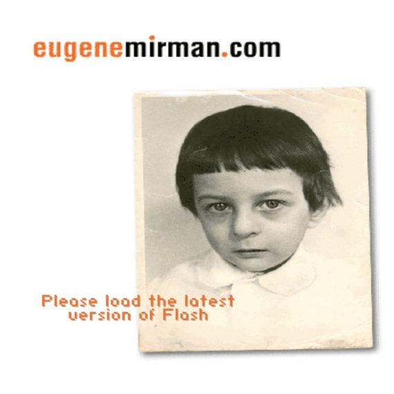 Eugene Mirman's first website