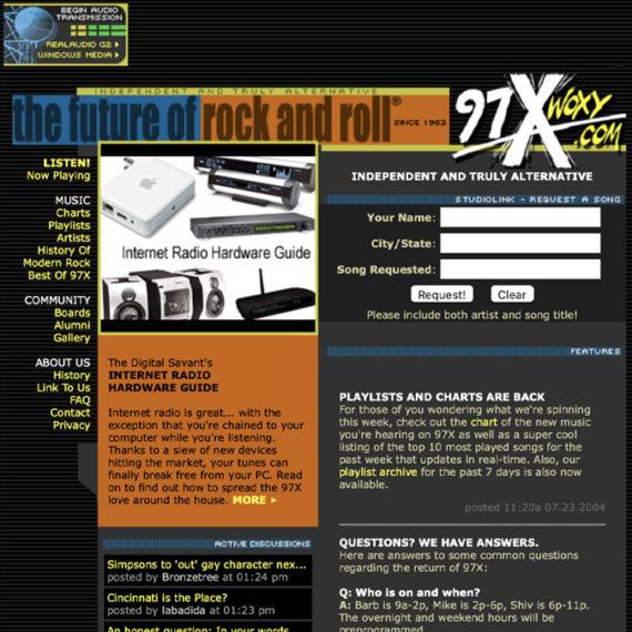 Woxy.com grab of old website