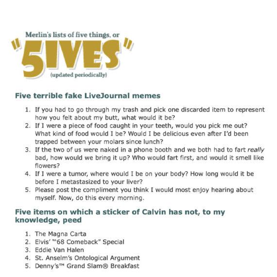 Fives website grab
