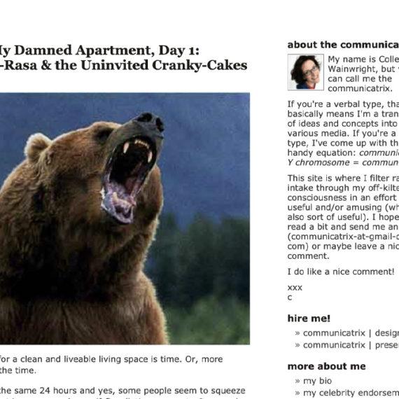 A bear and a blog avatar
