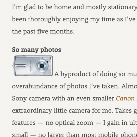A small camera icon surrounded by words