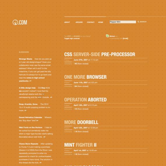 An orange weblog