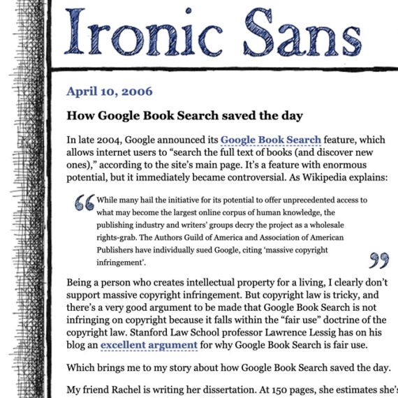 Grab from a blog called Ironic Sans