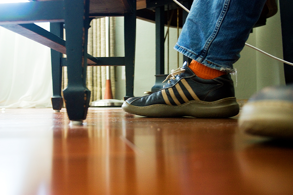orange DDC socks