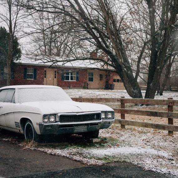 Oldsmobile Cutlas in the snow