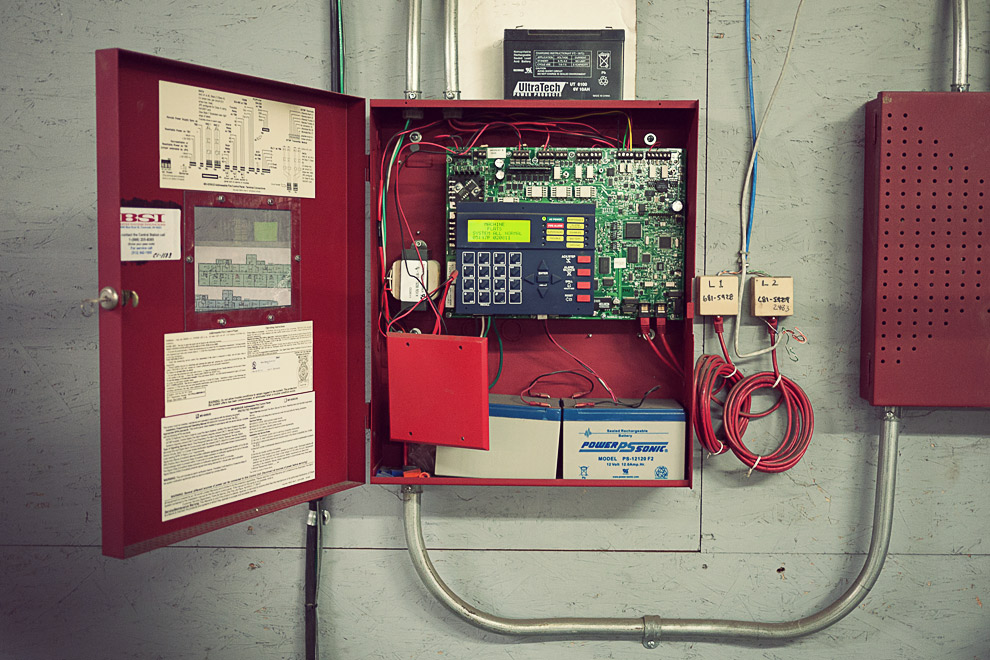 Electrical box with wires