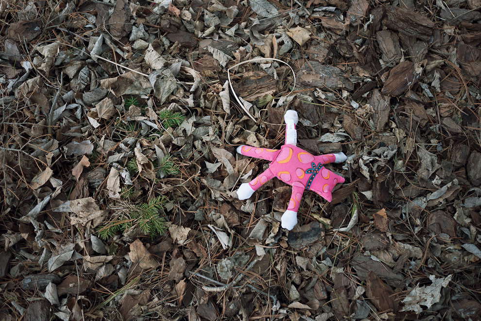 Discarded animal stuffed toy