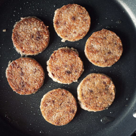 Geotta frying in a pan