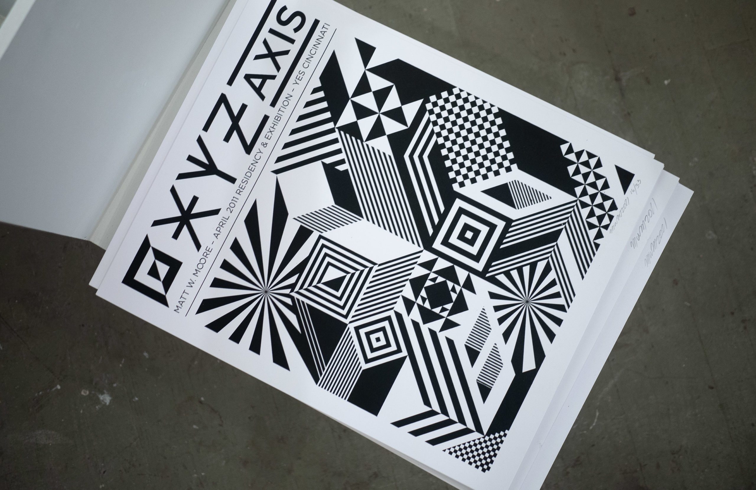 Black and White geometric designs