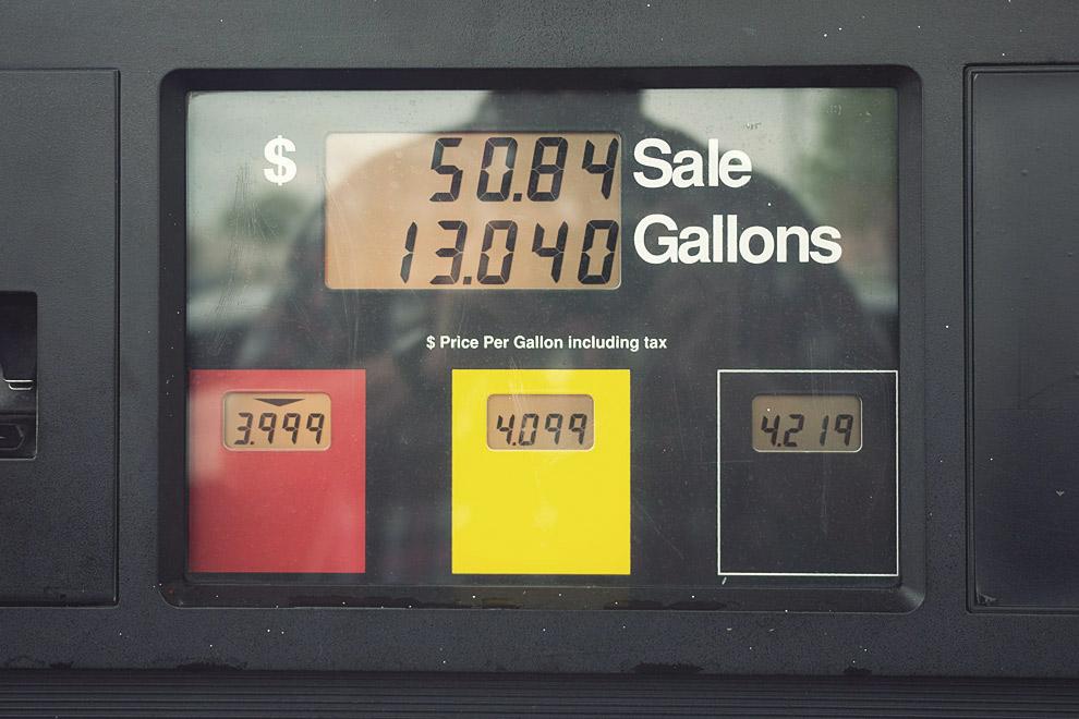 Gas pump readout