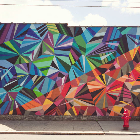 A geometric mural