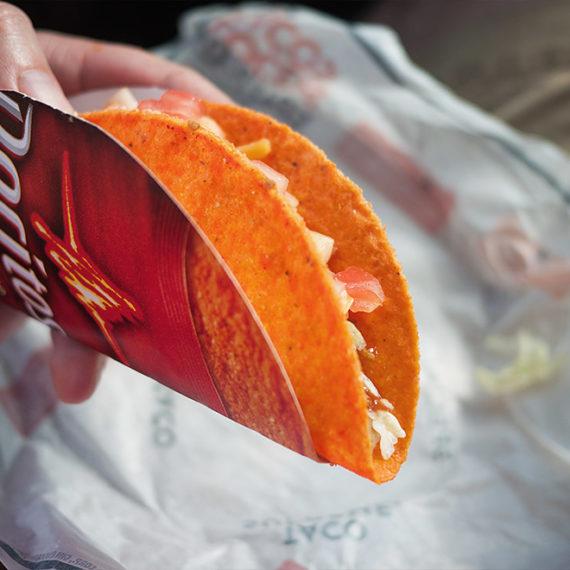 An orange taco