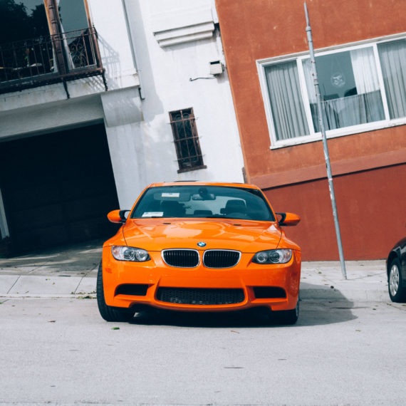an orange car