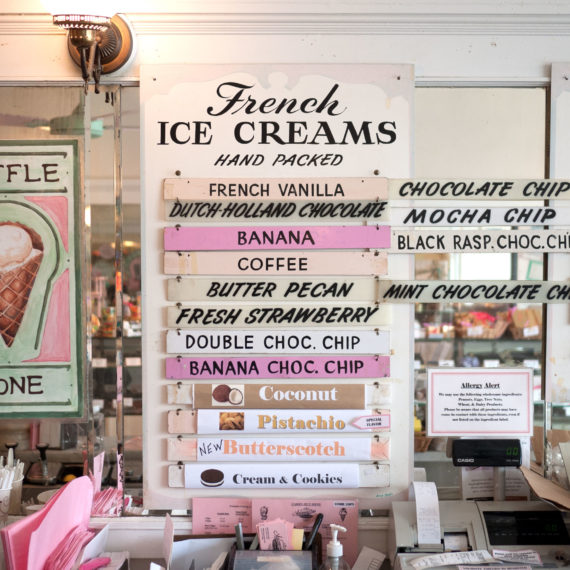 Ice Cream menu board
