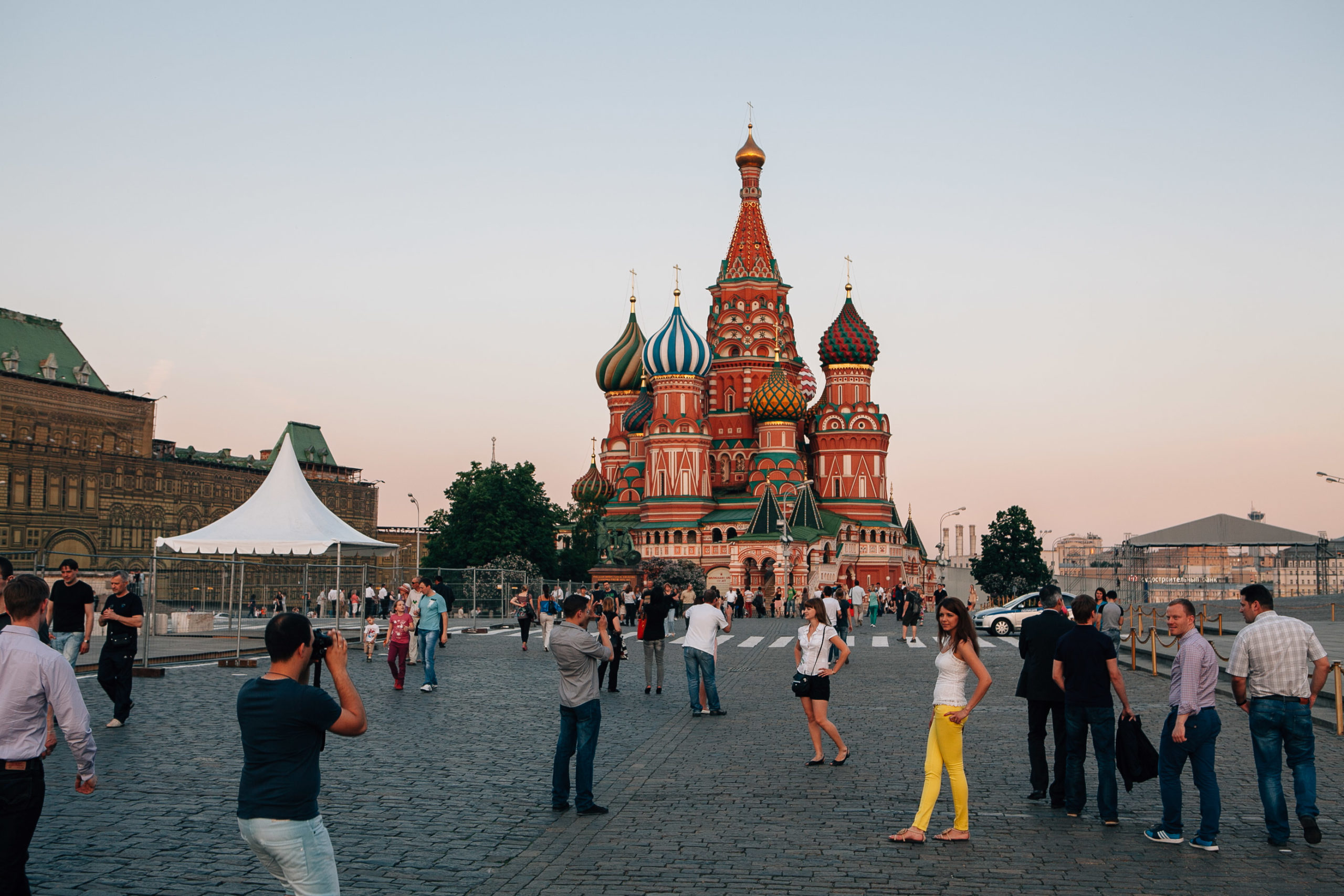 An ornate cathedral in Russia