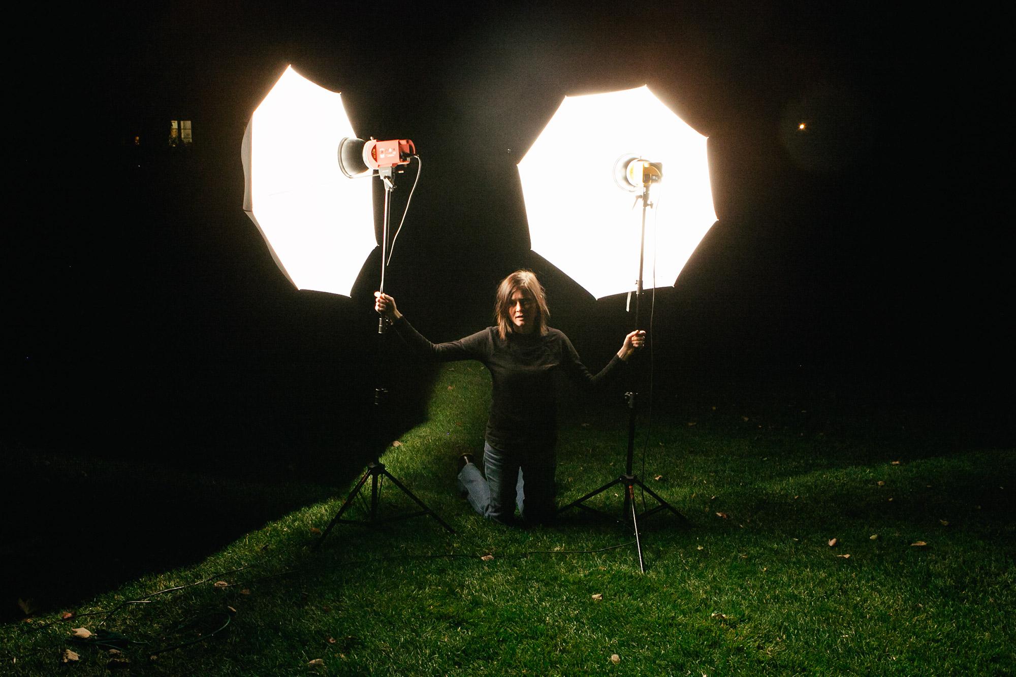 Sam, holding down the lights
