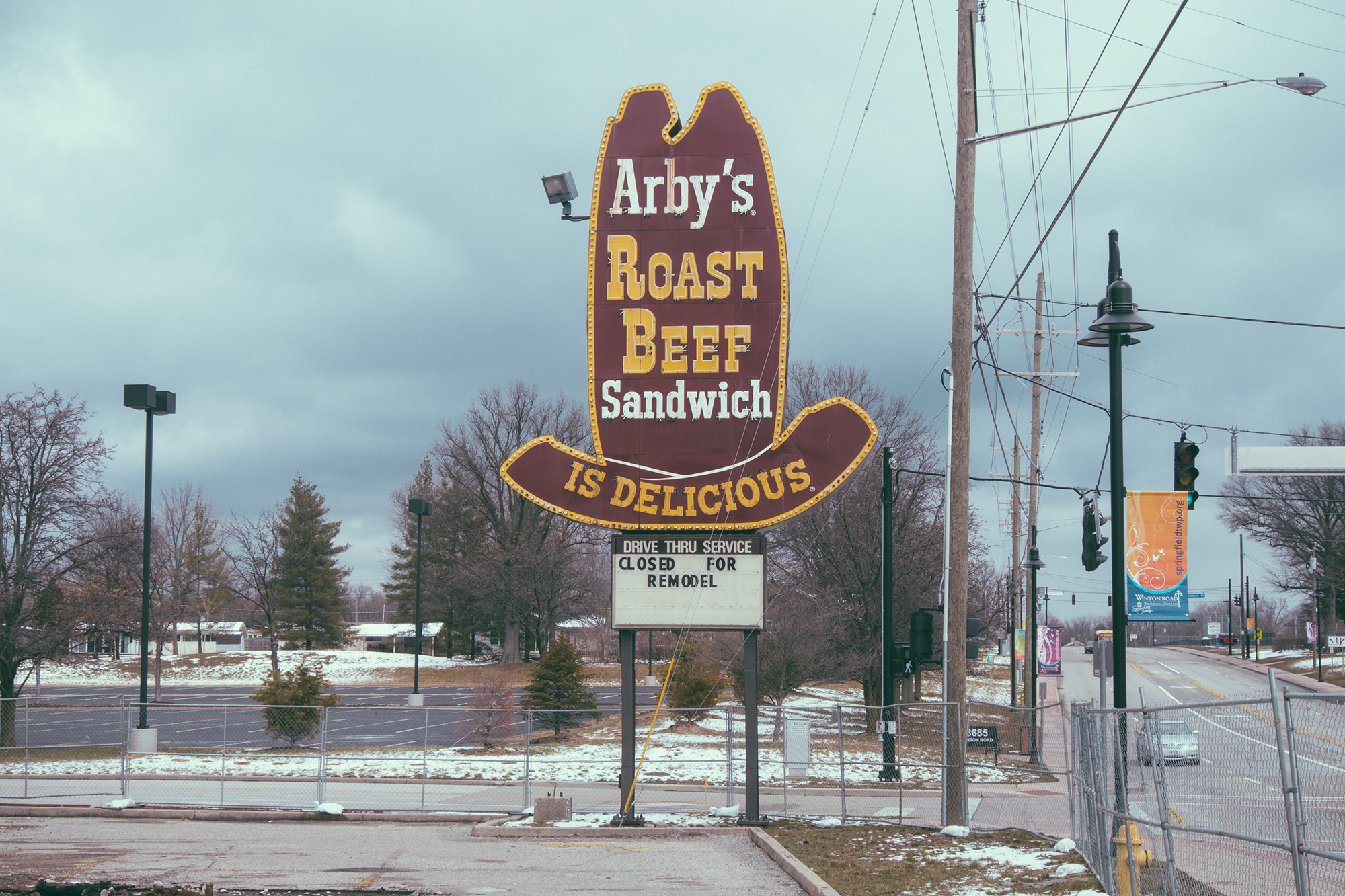A classic Arby's sign