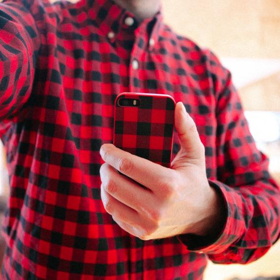 Plaid shirt, plaid phone case