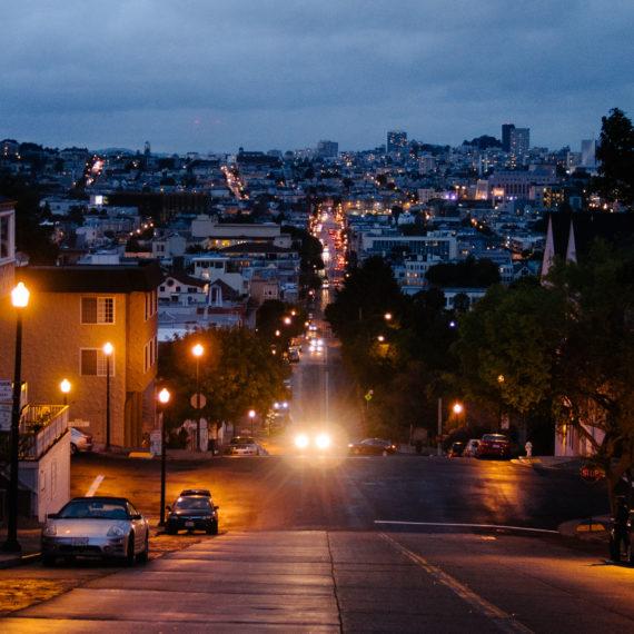 San Francisco streets at dusk