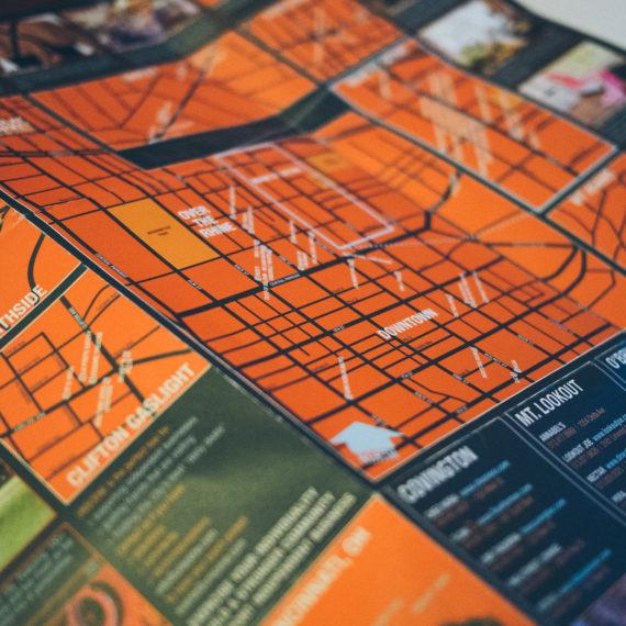 An orange map
