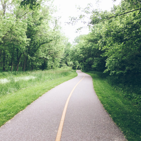 Bike and hike path